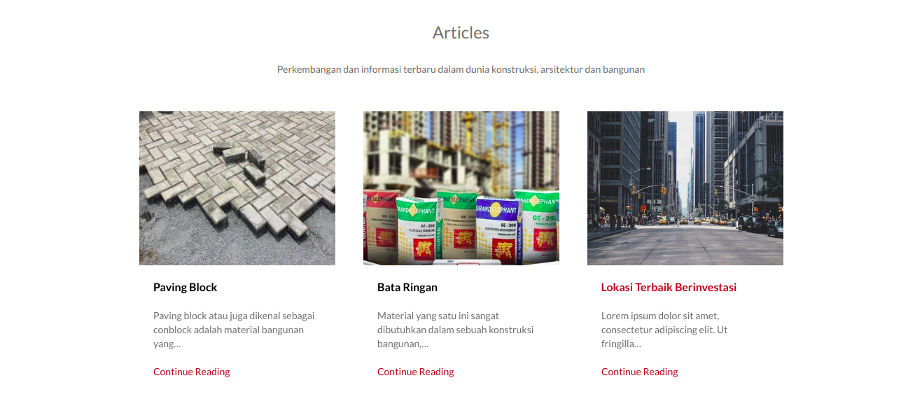 Homepage - Articles